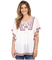 Rock And Roll Cowgirl Butterfly Sleeve B4 5366 White Women's Blouse
