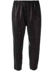 Ilaria Nistri Elasticated Waistband Cropped Trousers Black