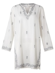 Jigsaw Floral Embroidered Kaftan White