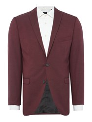Selected Mylo Logan Plain Weave Suit Jacket Wine