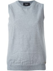 Dsquared2 Knitted Sleeveless Top Grey