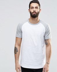 Pull And Bear T Shirt With Raglan Sleeve In Gray Gray