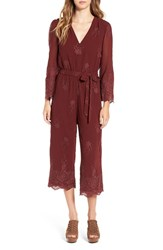 Wayf Women's 'Hampshire' Embroidered Crop Jumpsuit