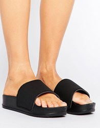 Truffle Collection Flatform Matte Sliders Black Matte