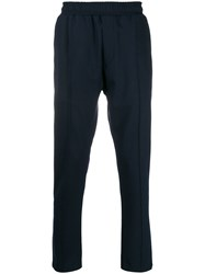 Low Brand Pull On Straight Leg Trousers Blue
