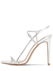 Steve Madden 120Mm Metallic Faux Leather Sandals Silver