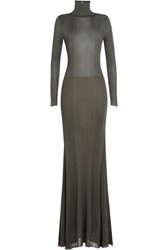 Emilio Pucci Floor Length Knitted Dress Green