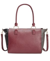 Rampage Satchel Only At Macy's Wine Charcoal Black