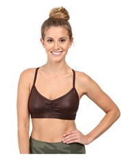 Alo Yoga Sunny Strappy Bra Mink Glossy Women's Bra Brown
