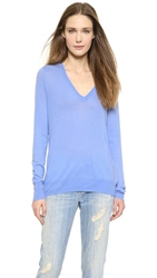 Equipment Cecile V Neck Sweater Jewel