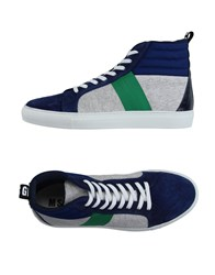 Msgm Footwear High Tops And Trainers Men Dark Blue