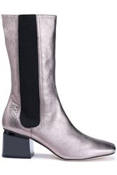 Sigerson Morrison Eartha Metallic Leather Boots Metallic