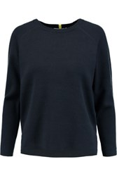 Duffy Cotton And Cashmere Blend Sweater Midnight Blue