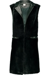 Iris And Ink Liberty Shearling And Leather Gilet