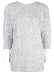 3.1 Phillip Lim Layered Sweatshirt Grey