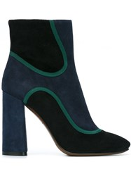L'autre Chose Side Zip Ankle Boots Black