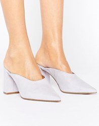 Asos Pinkie Pointed Heeled Mules Blue