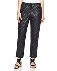 Bcbgmaxazria Lucien Quilted Faux Leather Pants Black