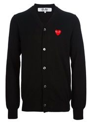 Comme Des Garcons Play Heart Logo Cardigan Black