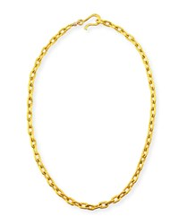 Dina Mackney Tight Link Chain Necklace 18 L Gold