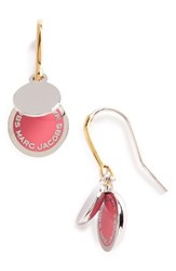 Marc By Marc Jacobs Women's Enamel Logo Disc Drop Earrings
