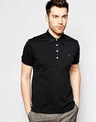 Peter Werth Jersey Polo Shirt Black