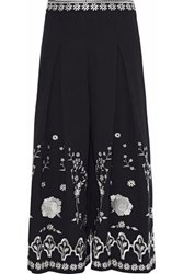 Temperley London Lettie Embroidered Culottes Black
