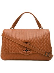 Zanellato Textured Satchel Brown