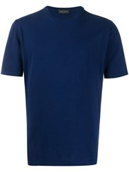 Roberto Collina Short Sleeve Fitted T Shirt Blue
