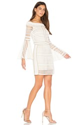 We Are Kindred Daisy Off Shoulder Mini Dress Ivory