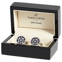 Simon Carter For John Lewis Archive Cummersdale Cufflinks Navy