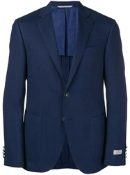Canali Classic Fitted Blazer Blue