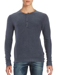 Strellson Lennon Cotton Henley Shirt Navy