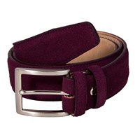 40 Colori Burgundy Trento Leather Belt Red