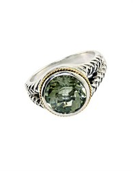 Effy Balissima Sterling Silver And 18Kt. Yellow Gold Green Amethyst Ring