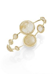 Ippolita Lollipop Rutilated Quartz And 18K Yellow Gold Bangle Bracelet