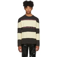 Telfar Black Striped Long Sleeve T Shirt