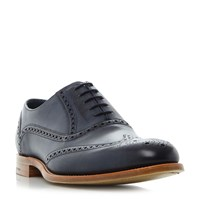 Barker Valiant Hand Painted Wingtip Brogues Navy