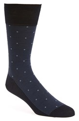 Men's John W. Nordstrom Dot Socks Navy Light Dusk