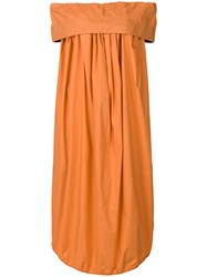 Ter Et Bantine Off The Shoulder Dress Yellow And Orange