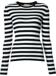 Michael Kors Striped Jumper Black