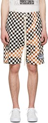 Herman Black And White Checker Shorts