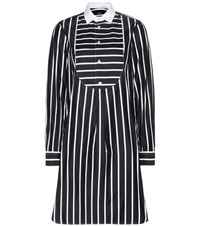Polo Ralph Lauren Mia Striped Cotton Shirt Dress Black