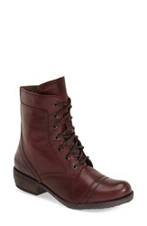 Women's Bos. And Co. 'Kool' Waterproof Lace Up Boot Oxblood