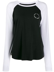 Dkny Raglan Sleeve Jersey Top Black