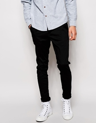 Pull And Bear Pullandbear Slim Fit Chinos Black