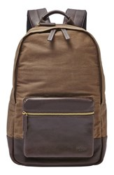 Fossil Men's 'Estate' Canvas Backpack Brown