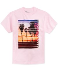 Young And Reckless Men's Graphic Print Cotton T Shirt Pink