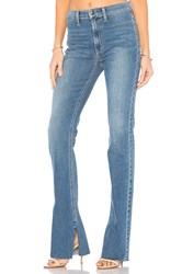 Joe's Jeans The Micro High Rise Flare Distressed Medium Blue