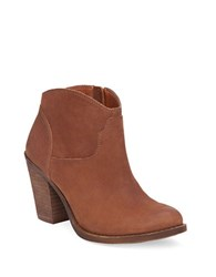 Lucky Brand Eller Leather Ankle Length Booties Toffee